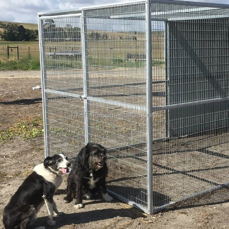 Cheap large/medium outdoor 10*6 *10ft galvanized steel dog house/dog kennels with rainproof/pet enclosure