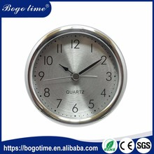 Fashionable 82mm silver OEM free website clock