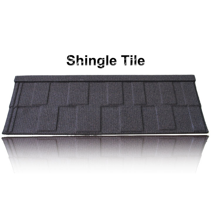 aluminium roof tile stone chip coated metal roof tile sheet, decorative metal roofing tile, french steel roof