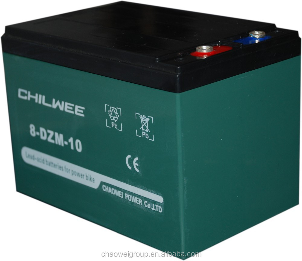 Chilwee MF Deep cycle Silicone gel battery 16V10Ah/2Hr for electric bicycle and electric medical devices