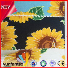 2018 hot sale sunflower and balloon printing 100 cotton fabrics for lady dress