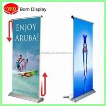 Moving banner aluminum electric roll up display stand