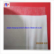 Double sided fusible interlining adhesive with release paper