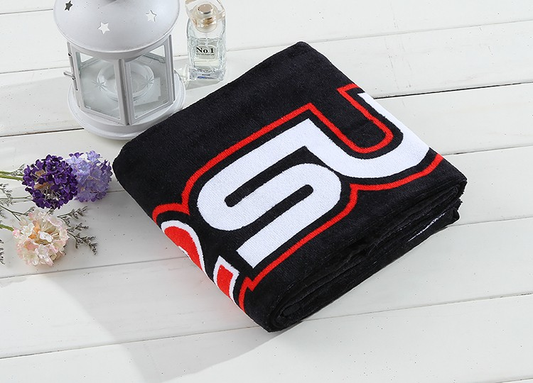 Refreshing fitness personalized custom fabric organic 100% cotton sport towel with logo