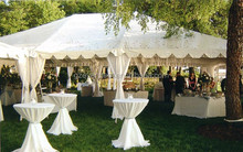 Guangzhou factory 10*10m wedding tents with decoration lining and curtains
