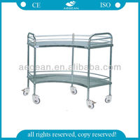 AG-SS007B With two layers hospital medical rolling carts,hospital medical wipe