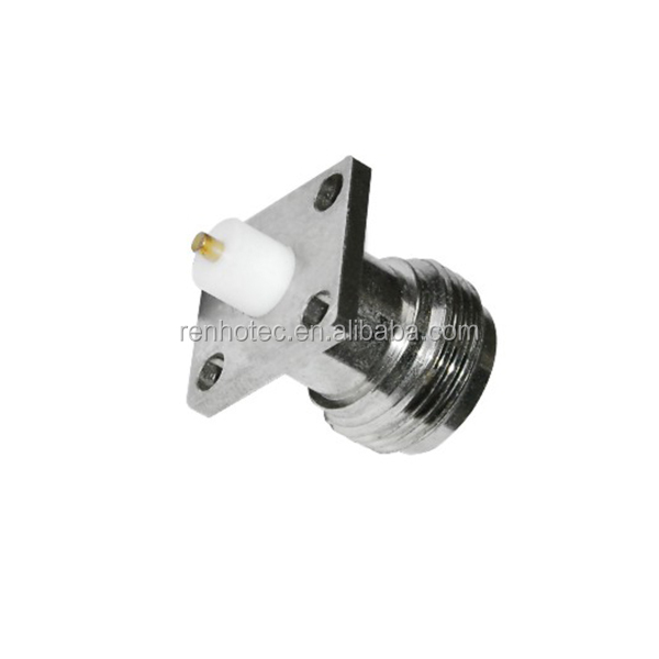 N Type Female Panel Mount Connector with 4 holes