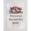 A4 size clear wall mounted acrylic sign holder with screws