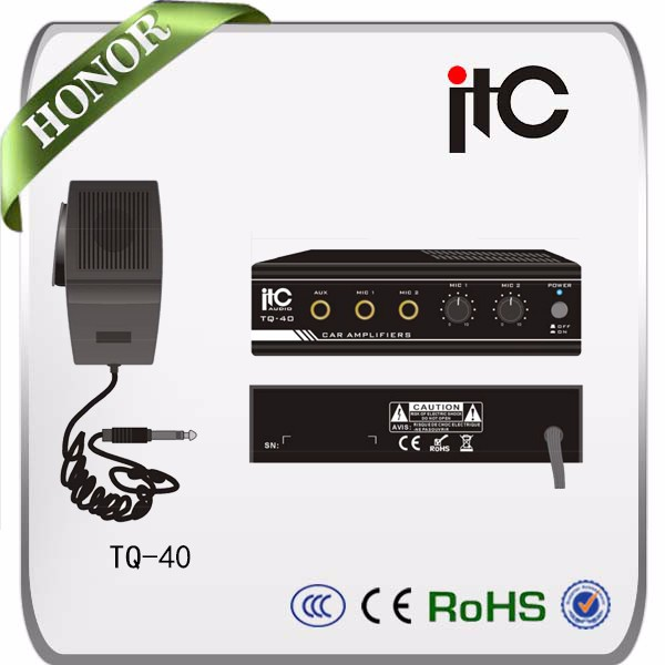 ITC TQ-40 mini stereo amplifier for world tech car audio