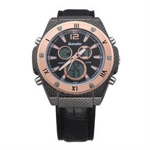 High quality waterproof Genuine Leather Quartz Casual WristWatch