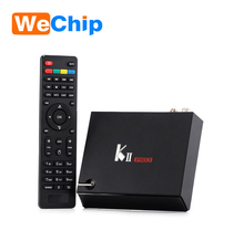 wholesale wechip original KII Pro S905 quad core 2G ram 16G rom 4K UltraHD satellite receiver Android K2 Pro DVB S2 T2