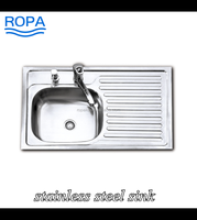 8050 good quality 201/304 stainless steel sink counter top