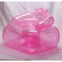 pink clear inflatable air sofa