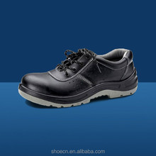 Anti-blow safety shoe Dual density PU hot construction top cow hide leather executive For industrial site