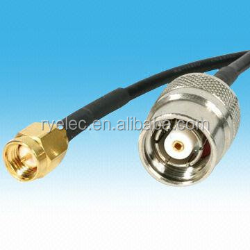 TNC to SMA Cable with RP TNC to SMA Wireless Antennas Adapter for RF Coaxial Cable Assembly
