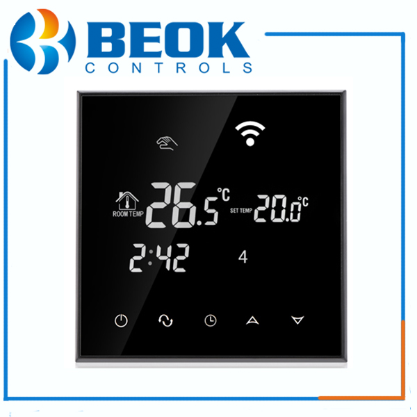 WIFI Room thermostats with child lock programme thermostats for electrical/water heating