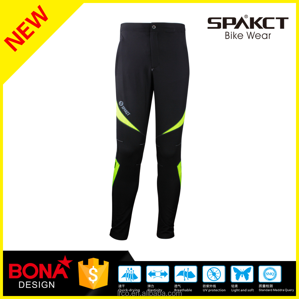 Spakct light Pro sport wear black long pants for running and bike <strong>cycling</strong>