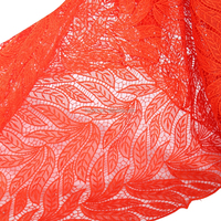 Wonderful design aso ebi 100 polyester orange lace embroidery fabric professional german lace fabric alibaba guipure lace