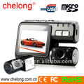 2013 BEST SALE blackbox 2.0 inch dashcam 120 Degree Wide Angle Dual Camera Car DVR