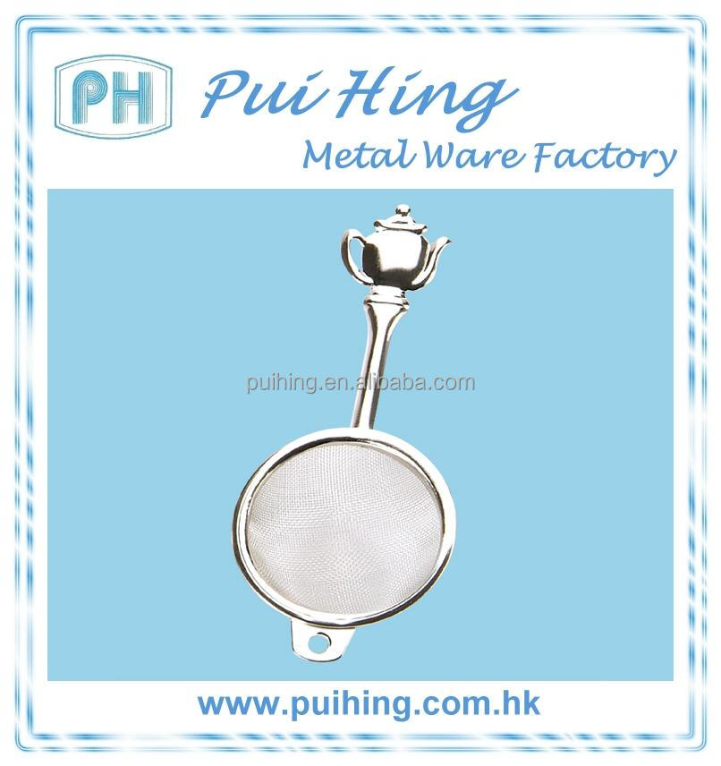 Stainless Steel Teapot Shaped Handle Mesh Tea Strainer