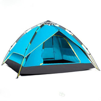 Outdoor Anti-Uv 4 Person Camping Tent For Hiking