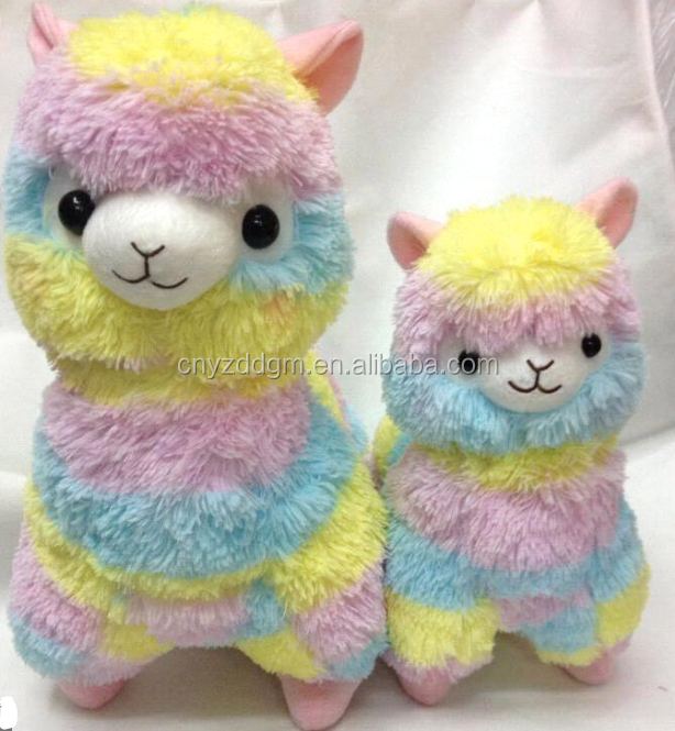 Free sample of Rainbow Alpaca plush/ Soft Plush Alpacasso Baby toy