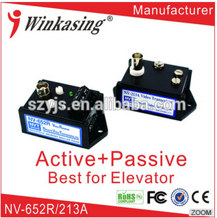 Manufacturer supply single active receiver using with passive transmitter video balun for lift security NV-652R/213A