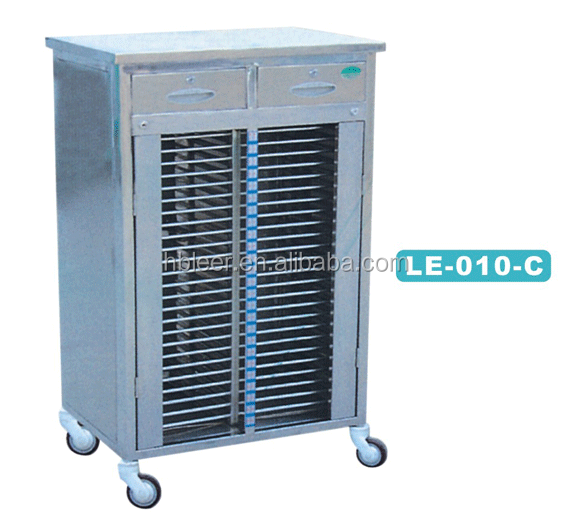 LE-<strong>010</strong>-<strong>C</strong> stainless steel patient file trolley medical trolley