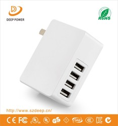 Hot sales universal cell phone tralve portable 20W 4 port micro usb wall charger