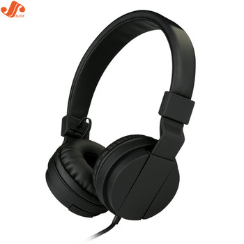 Basics Lightweight On-Ear Stereo Headphones Foldable Earphones with 3.5mm Jack for Adults Kids-Black