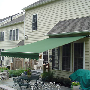 Outdoor sunshade waterproof arm retractable electric outdoor awning