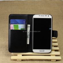 Wholesale Folio Stand Case for Samsung GALAXY S4 i9500 PU Leather Flip Cover with Wallet