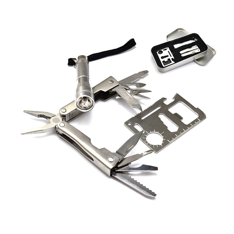 High-grade stainless steel metal outdoor kit multi utility tool,multifunction mini survival multi tool pocket
