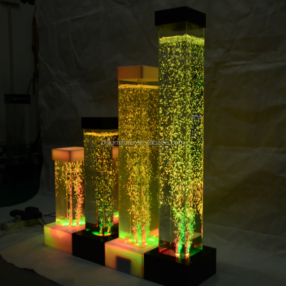 <strong>led</strong> <strong>lighting</strong> decoration, acrylic glowing tube,acrylic aquarium with bubble