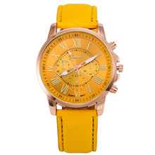 New 2015 Watch Famous Brand Geneva Cheap Unisex Watch Men Wristwatches Women Wristwatch Fashion Wrist Leather Strap Quartz Watch