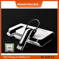 8000mAh 2 in 1 Bluetooth Headset with Power Bank Battery Charger for Samsung / iPhone / iPad / Huawei