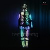 Programmed Full color Fiber optic and LED costume with mask