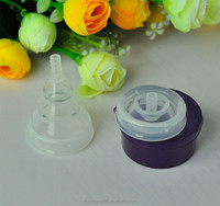 FDA material Protable folding collapsible silicone menstrual cup for travel