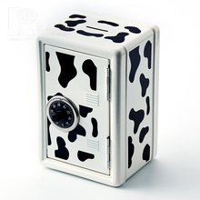 Kwang Hsieh Fancy Cow Pattern Metal Saving Bank Style Money Coin Bank