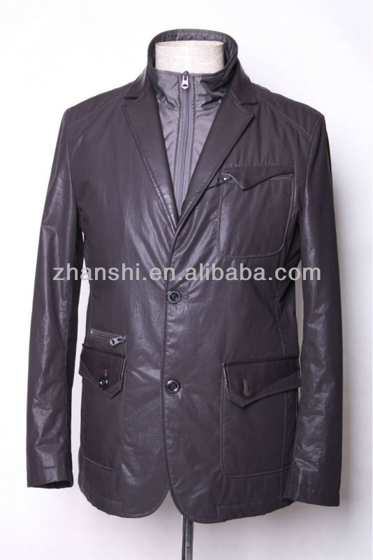 Custom Euorpean Fashion High Quality Men's Leather Garment