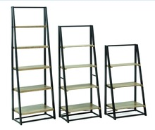 2017 Hot!!! 3/4/5 tiers storage ladder ,wood ladder shelf