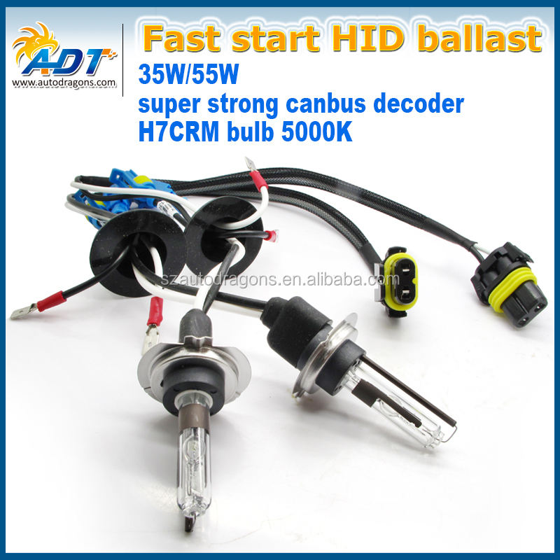 35W/55w Best price slim ballast 35w h7 xenon hid conversion kit 4300k 5000k