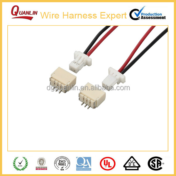 Original JST SHR1.0 Series Connector custom wire loom