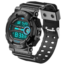 HOSKA H015 Surfing Diving Watches Waterproof Time Set Chronograph Alarm Week Display Silicone Led Digital Watches For Boys Girls