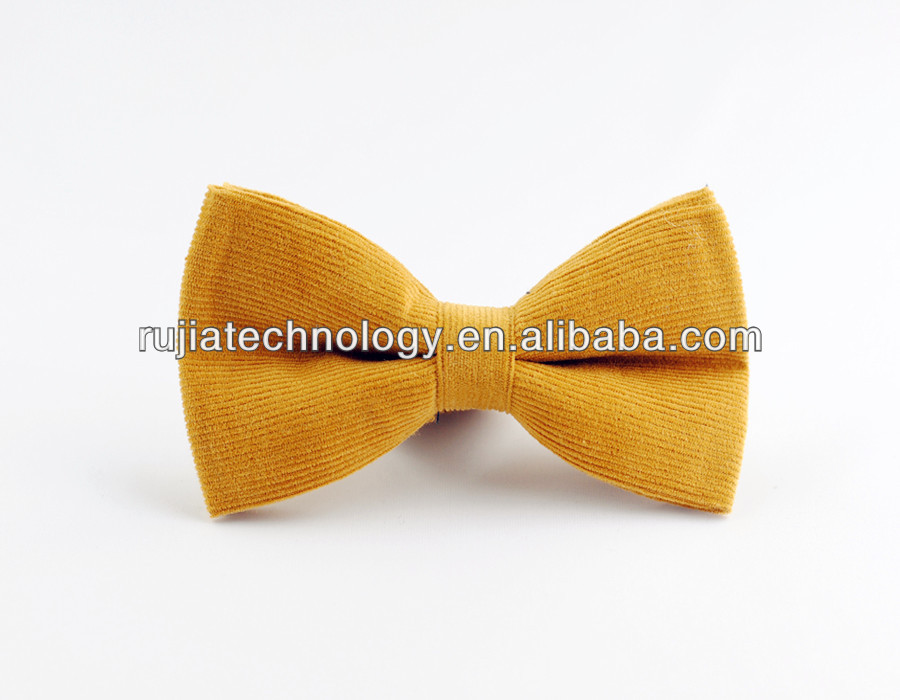 Banana Yellow Flannel Bow tie