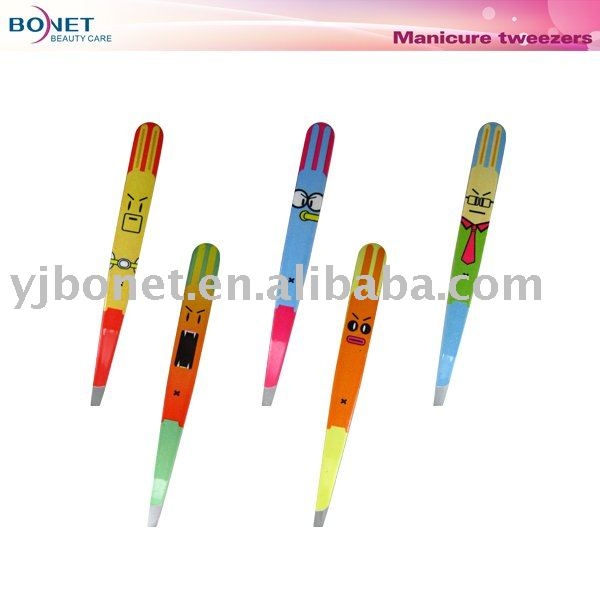 BTZ0024 New Cartoon Design Drawing Eyebrow Tweezers