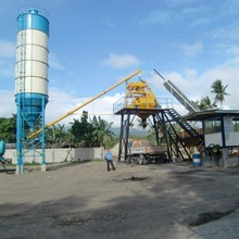 HZS25 skip hopper ready mix small mini concrete batching plant factory hot sale