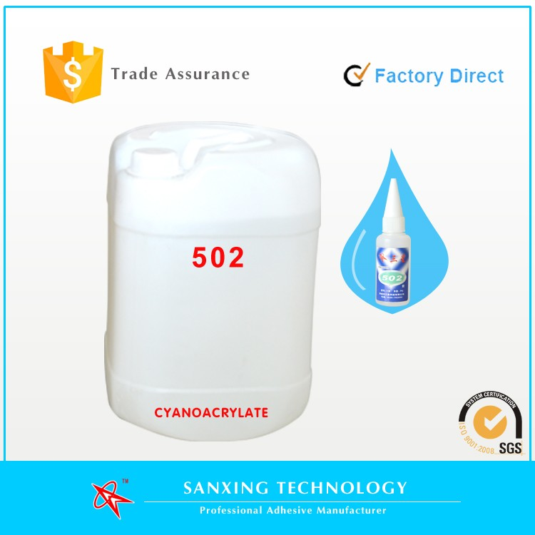 Factory direct, 25kg/barrel 100% Raw Glue , Liquid Cyanoacrylate Adhesive ,super glue, 502