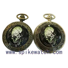China good supplier direct wholesale vintage pocket skull face watch