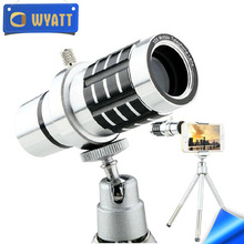 Wyatt New Arrival 2017 Universal 12X Mobile Phone Zoom Lens Mini Telescope with Tripod for Samsung iPhone Zoom Lens